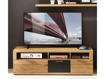 TV Board in Eiche Bianco und Anthrazit 160 cm breit