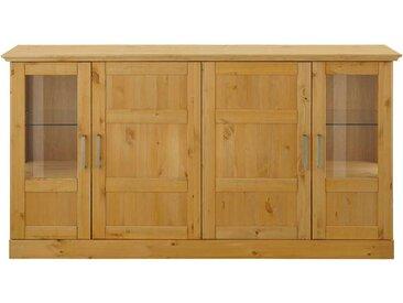 Wohnzimmer Anrichte aus Kiefer Massivholz Glastüren