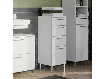 Bad Unterschrank in Weiß vier Schubladen