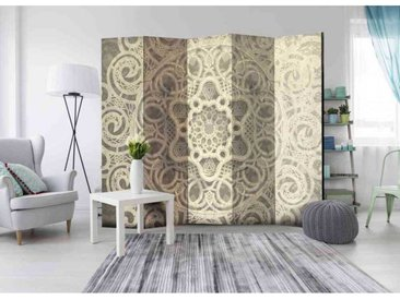 Leinwand Paravent mit Mandala Muster 225 cm breit