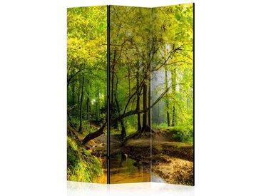3 teiliger Paravent für Schlafzimmer Wald Motiv