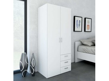 Kleiderschrank in Weiß 2 Türen