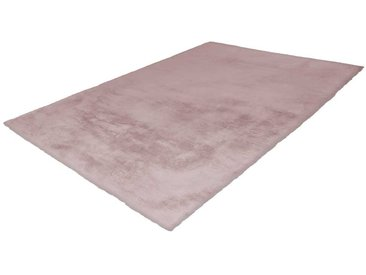 Kunstfell Teppich in Rosa modern