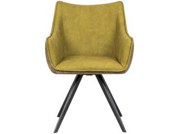 Tischsessel in Gelbgrün drehbar (2er Set)