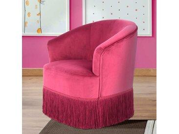 Kindersessel in Pink Samt Mädchen
