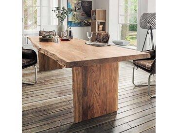 Baumkantentisch aus Akazie Massivholz Landhausstil