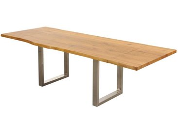 Massivholztisch aus Wildeiche Metallgestell
