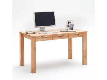 Schreibtisch mit Schubladen Kernbuche Massivholz