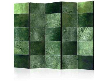 Paravent Trennwand in Kachel Optik Grün