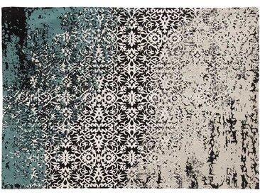 Vintage Teppich aus Chenillegewebe floralem Muster