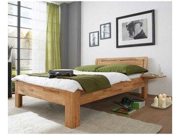 Singlebett aus Kernbuche Massivholz einem Nachttisch (2-teilig)