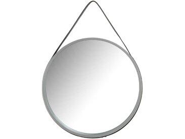 Skandi Design Spiegel in Grau rund