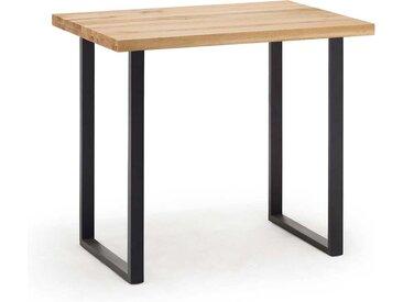 Tresentisch aus Wildeiche Massivholz und Stahl Loft Design