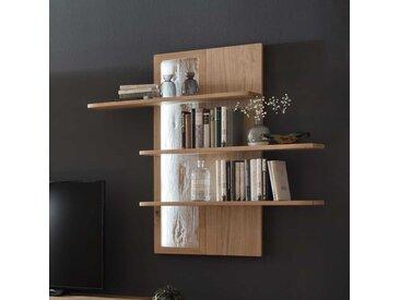 Wohnzimmer Hängeregal mit Eiche Bianco furniert modern