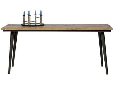 Tisch aus Ulme Recyclingholz Eisengestell in Rostfarben