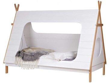 Tipi Kinderbett aus Kiefer Massivholz Weiß