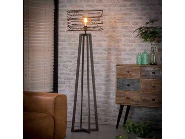 Design Sehleuchte mit spiralförmigem Schirm Anthrazit