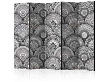 Design Paravent mit Mandala Motiven 5 Elementen