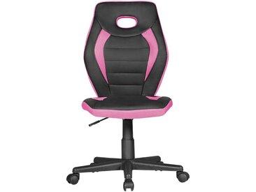 Mädchen Drehstuhl in Pink und Schwarz höhenverstellbar