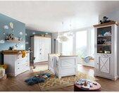 Babyzimmer Set in Weiß und Eichefarben Kiefer Massivholz (sechsteilig)