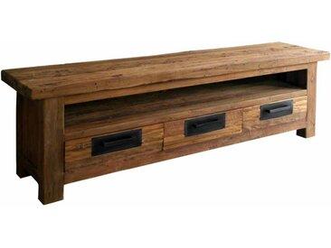 TV Board aus Teak Recyclingholz 200 cm breit
