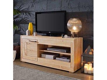 TV Board aus Wildeiche Massivholz hell sandgestrahlt und geölt