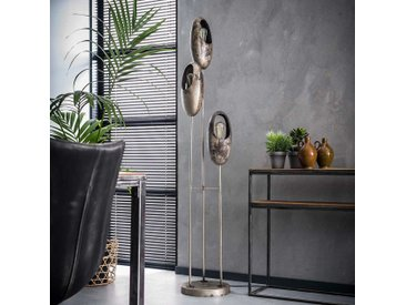 Design Stehlampe in Altsilberfarben Loft Style