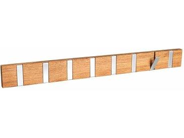 Hakenleiste mit Klapphaken Eiche Massivholz