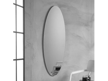 Ovaler Wandspiegel 120 cm hoch 40 cm breit