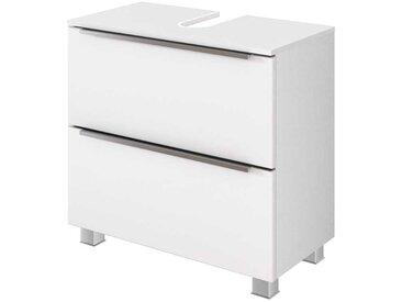 Badezimmer Schrank in Weiß Klappe und Schublade