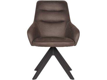 Drehbarer Esstisch Stuhl in Anthrazit Microfaser Loft Design