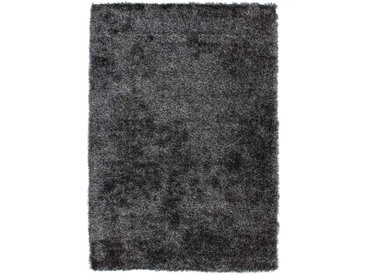 Hochflor Teppich in Anthrazit modern