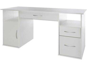 Schreibtisch in Weiß 145 cm breit