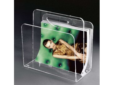 Zeitungskorb aus Acrylglas modern