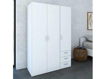 Schlafzimmer Kleiderschrank in Weiß 3 türig