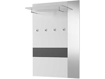 Wandgarderobe mit Spiegel Weiß Anthrazit