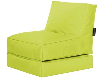 Outdoorliege in Gelbgrün Sitzsack