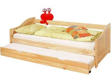Kinderbett mit Gästebett Kiefer Massivholz (2-teilig)