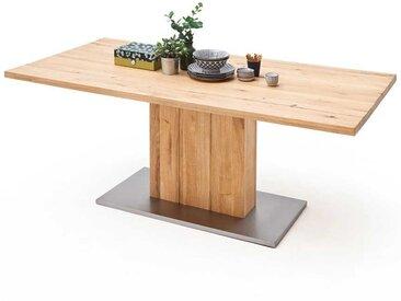 Tisch aus Balkeneiche Säulengestell