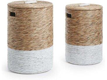 Körbe aus Wasserhyazinthe Wäsche (2-teilig)