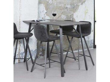 Küchenbartisch in Schwarz Grau Stahl