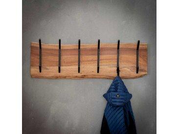 Baumkanten Garderobenleiste aus Akazie Massivholz 100 cm breit
