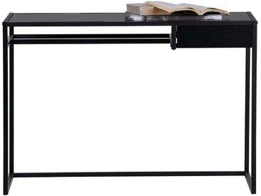 Büroschreibtisch in Schwarz 110 cm breit