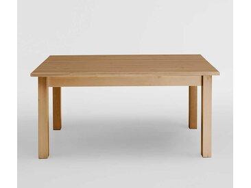 Massivholztisch aus Kiefer gebeizt und geölt verlängerbar
