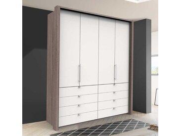 Kleiderschrank Jugendzimmer mit Falttüren und Schubladen modern