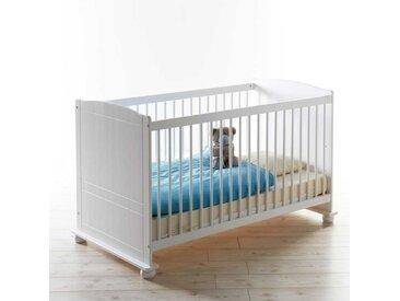 Babybett in Weiß inklusive Rollrost