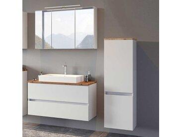 Badezimmerset in Weiß und Wildeiche Optik modern (3-teilig)