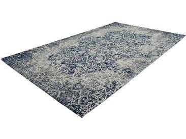 Orientalischer Teppich in Grau und Blau Chenillegewebe