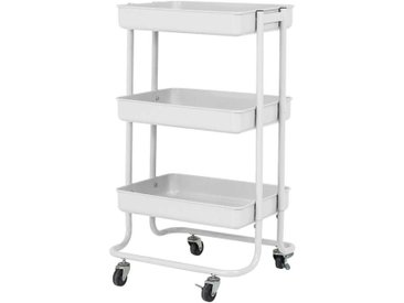 Küchenwagen in Weiß Metall