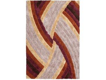 Retro Teppich in Bunt Hochflor 240 cm breit